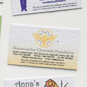 Direct Print Seeded Paper Business Card SP-DP-BC Business Card Alternatives