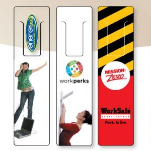 "6"" Clear or White Vinyl Bookmarks BM-VINYL-6 Bookmarks and Rulers Plastic Bookmarks and Rulers"