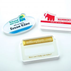 "Acrylic Buttons and Badges - Up to 2"" x 2"" BUA-2x2 Acrylic Products"