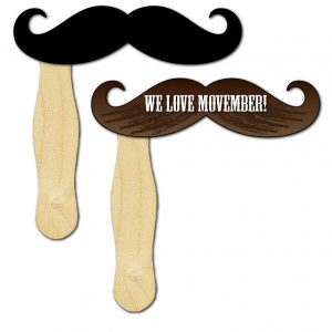 Movember Moustache Hand Sign HF-MOUSTACHE Event Promotions Hand Fans