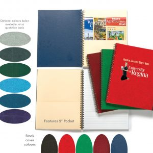 "7"" x 10"" Lancaster Premium Series 4CP Journals with Pocket JB-606 Journals and Workbooks Lancaster Premium Series Journals"