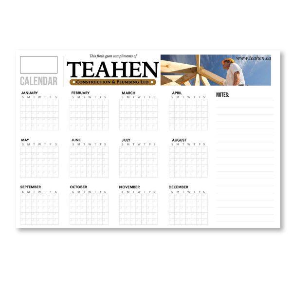 "44"" x 92"" Styrene Perpetual Dry Erase Calendar - Year At A Glance JJC-3000-S Calendars Perpetual Calendars"