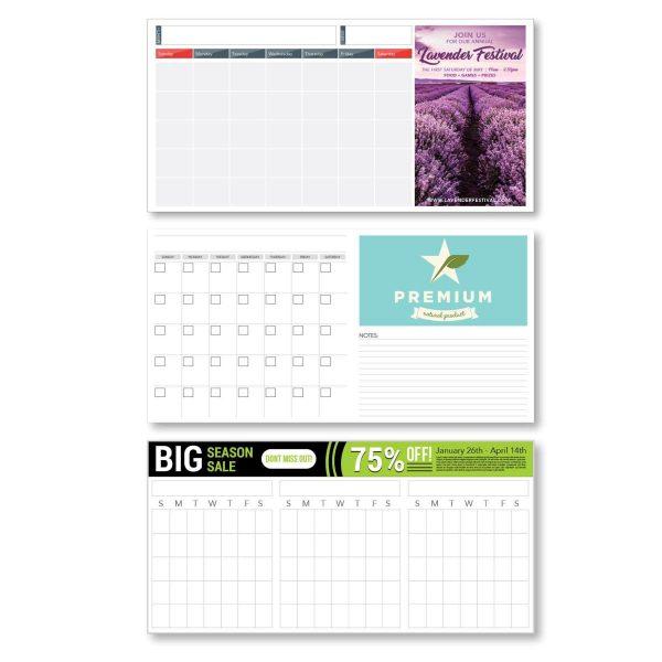 "20"" x 40"" Styrene Perpetual Dry Erase Calendar JJC-3300-S Calendars Perpetual Calendars"