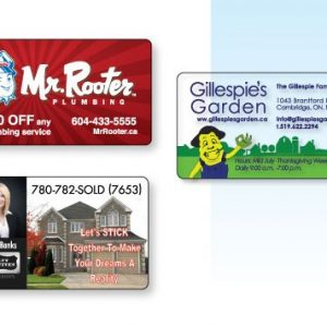"Wallet Cards PVC and Styrene - 2.125"" x 3.375"" LP-015-CC Business Card Alternatives"