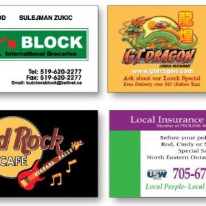 "2"" x 4"" Jumbo Business Card Magnets - 30mil MG-1113-SP-30MIL Magnets Business Card Magnets"