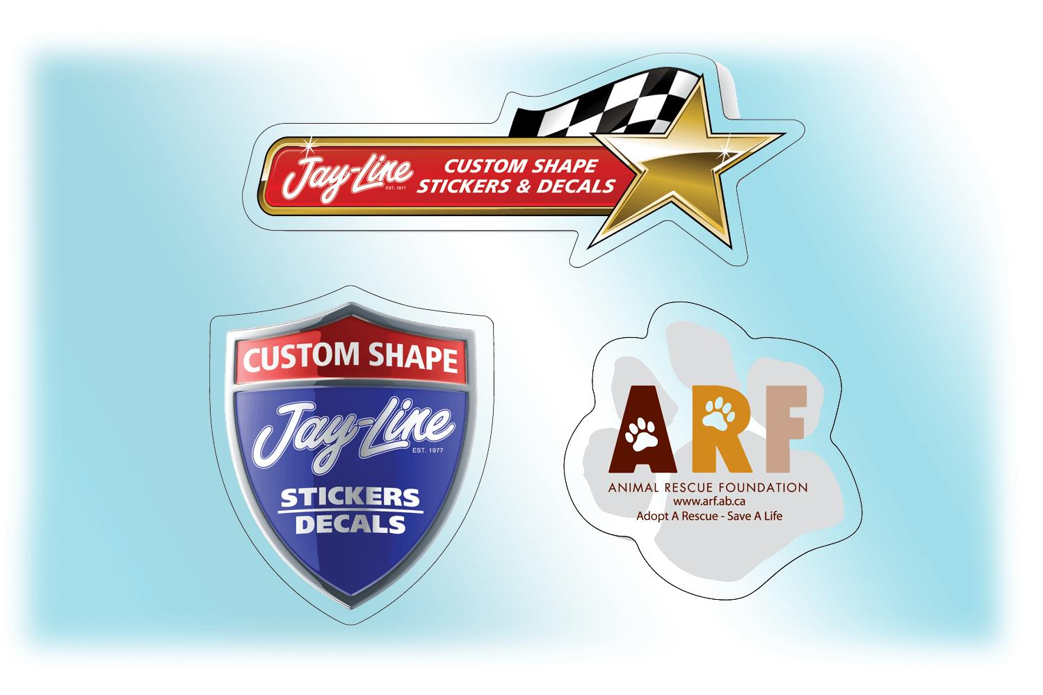 Custom roll stickers clear polyester up to 3″ x 3″