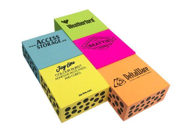 Adhesive Colour Burst Half Cubes - Long Run SN-CUBE-CB-HALF Note Pads Adhesive Cubes