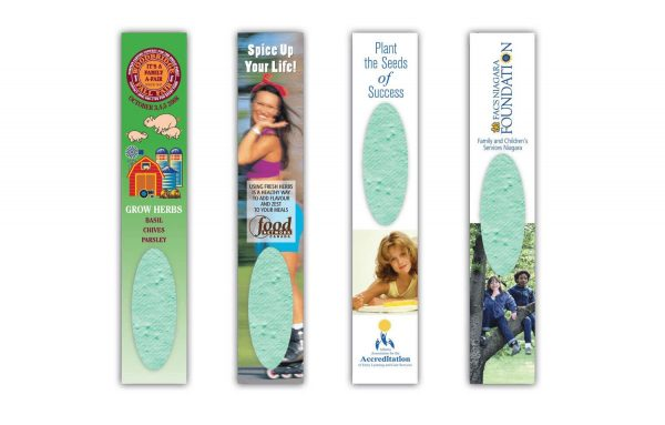 Herb Garden Seeded Paper Bookmark SP-1020-HERB Seeded Products Seeded Paper Bookmarks
