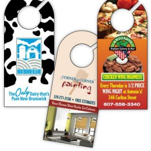 "8"" Styrene Door Hanger - Single Sided STY-DH8-SS Door and Permit Hangers"