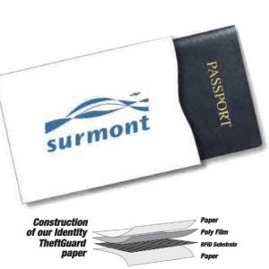 Identity Theft Guard Sleeves Passport Size SW-PP Swipe Guards and Identity Theft Sleeves