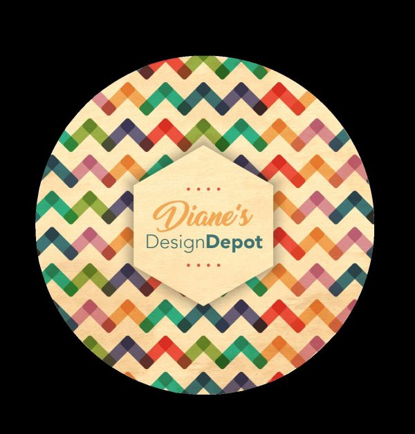 "3.5"" Round Wood Coaster WD-4000-CO Wood - Direct Print"